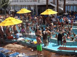 Cruise Crowded Pool Area C